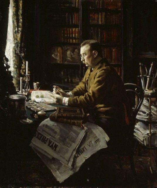 Akseli Gallen-Kallela - Portrait of Dr_ Herman F_ Antell