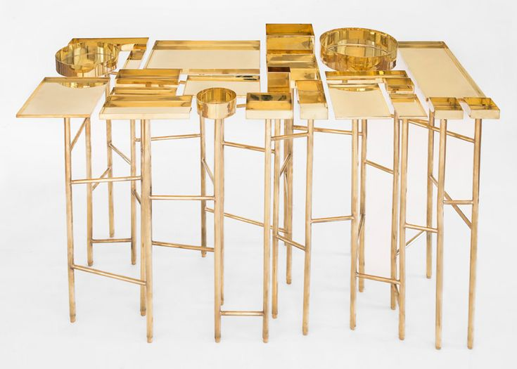 OCD Table panders to compulsive organisation by @esrawestudio I'm thinking of this for jewelry display. #studioinspiration