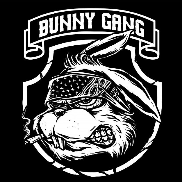 Bunny Gangster Vector Funny iphone wallpaper, Gangster
