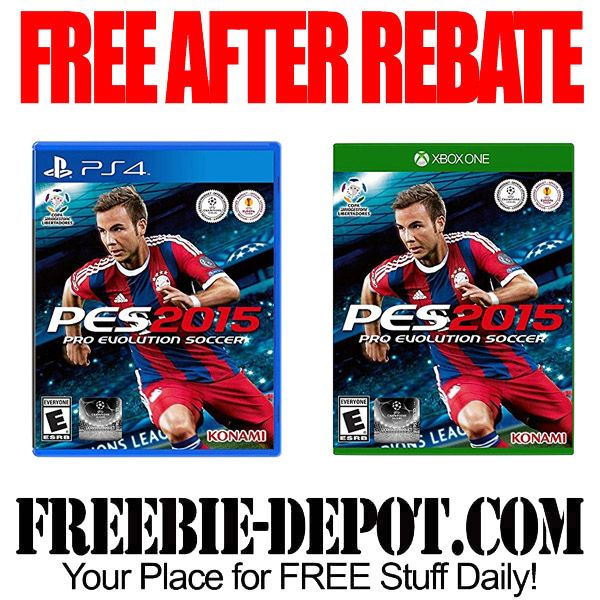 ►► FREE AFTER REBATE - Pro Evolution Soccer 2015 for PS4 or XBox One - Exp 2/29/16 ►► #Free, #FreeAfterRebate, #FREEbate, #NeweggCom, #PS4, #Soccer, #XBox ►► Freebie-Depot