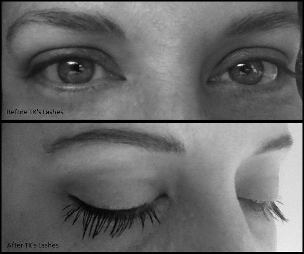 Before & After TK's Lashes