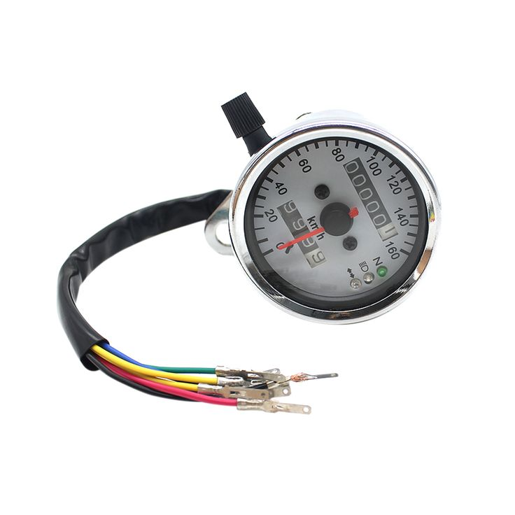 Find More ATV Parts & Accessories Information about Motorcycle Dual Odometer Speedometer Gauge Speed Meter with Headlight / Turning Light / Neutral Indicators (Silver),High Quality gauge belly button ring,China speedometer cable Suppliers, Cheap gauge roll from Top Seller Number One on Aliexpress.com