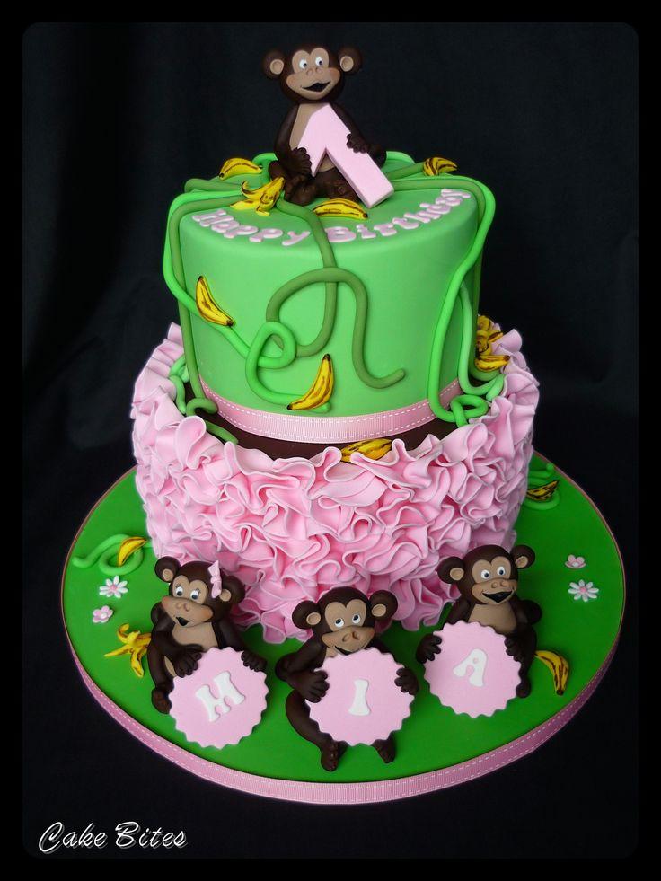 Cheeky monkey 1st birthday cake