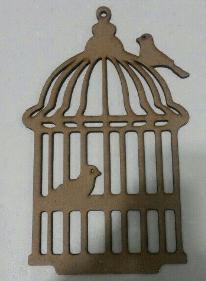 Lazer ahşap dekoratif kuş kafesi