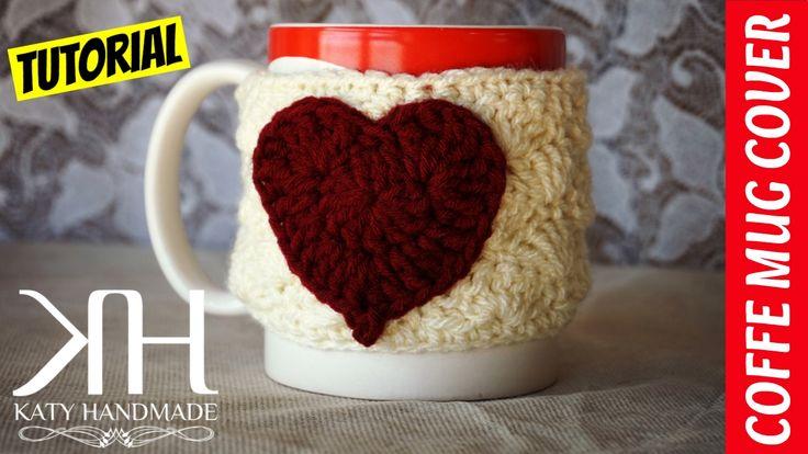 TUTORIAL COPRITAZZA UNCINETTO | COFFEE MUG COVER CROCHET || Katy Handmade