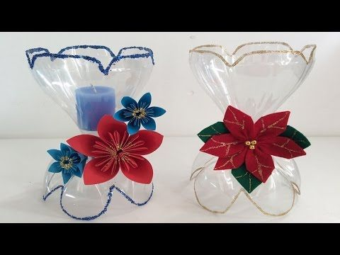 Best Out Of Waste Plastic bottles transformed to lovely Flower plant Showpiece - YouTube