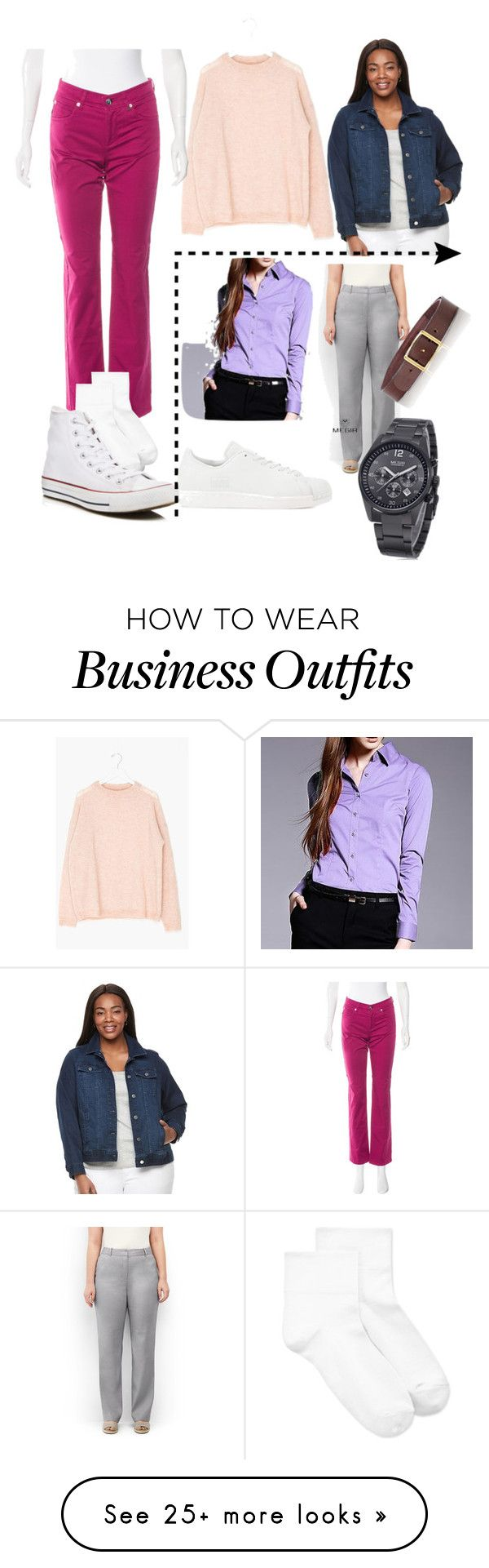 """Abby McWilliams (Lori Loughlin) The New Kids 1985"" by katrinalester123 on Polyvore featuring Bogner, Hue, Converse, Apt. 9, Lands' End, C.S. Simko, adidas Originals and plus size clothing"