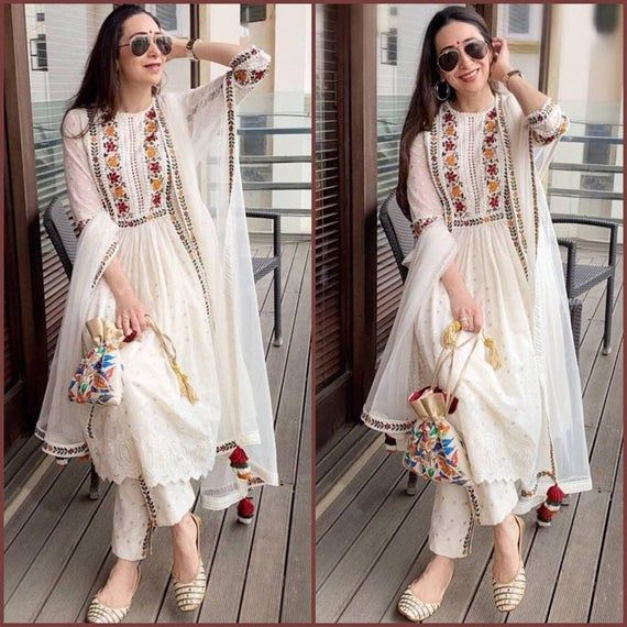 Vintage Kurta Indian Pakistani Bollywood Dress