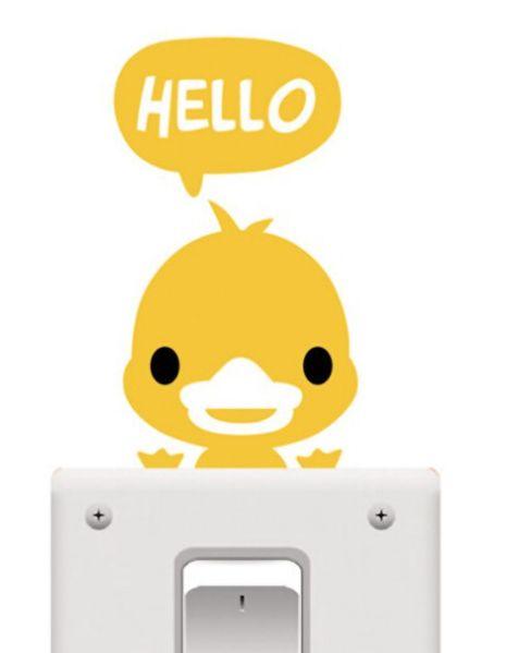Light Switch Sticker - Yellow Chick