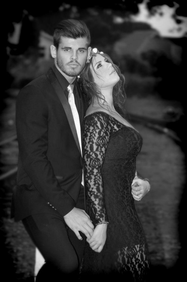 Sarah and Cole - Matric Dance - May 2014 - outside the Stoker's Arms, Old Kloof Train Station.