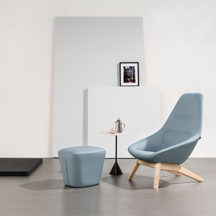 Famiglia by Allermuir   The Famiglia seating family includes a collection of low, mid, high back and lounge chairs that between them offer a choice of metal or wooden legs and 5-star bases.