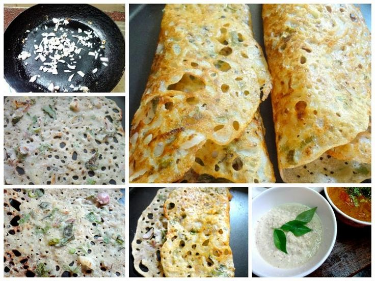 Rava Masala Dosa (Spiced semolina and flours crepes )