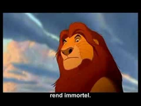 The Lion King Songs in French with Subtitles