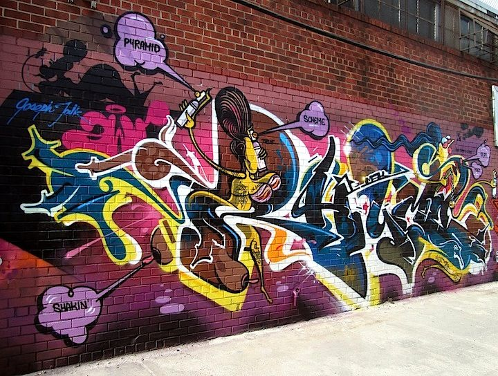 Rime graffiti in Bushwick Brooklyn NYC Busy in Bushwick: Curve, Wane, Ensue, Vizie, Jick, Mast and Rime