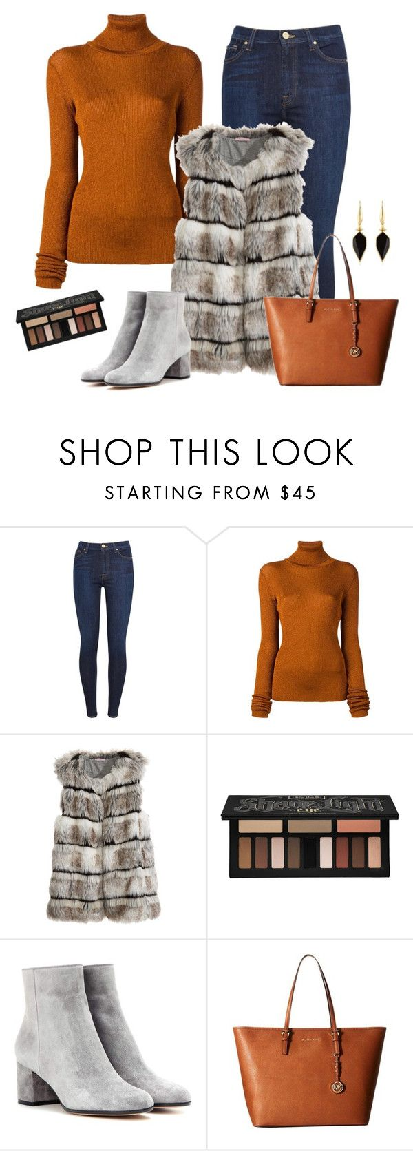 """Untitled #807"" by heyjerseygirl ❤ liked on Polyvore featuring 7 For All Mankind, MARIOS, Calypso St. Barth, Kat Von D, Gianvito Rossi, MICHAEL Michael Kors and Isabel Marant"