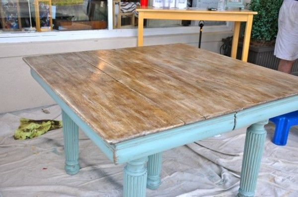 Anne Sloan duck egg blue chalk paint - for our island?: Idea, Tutorials, Chalk Paint Tutorial, Table10 600X398, Chalk Paint Table, Chalk Paint Projects, Annie Sloan Chalk Paint