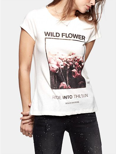 T-shirt, Seven Sisters Wild flower tee - The Sting