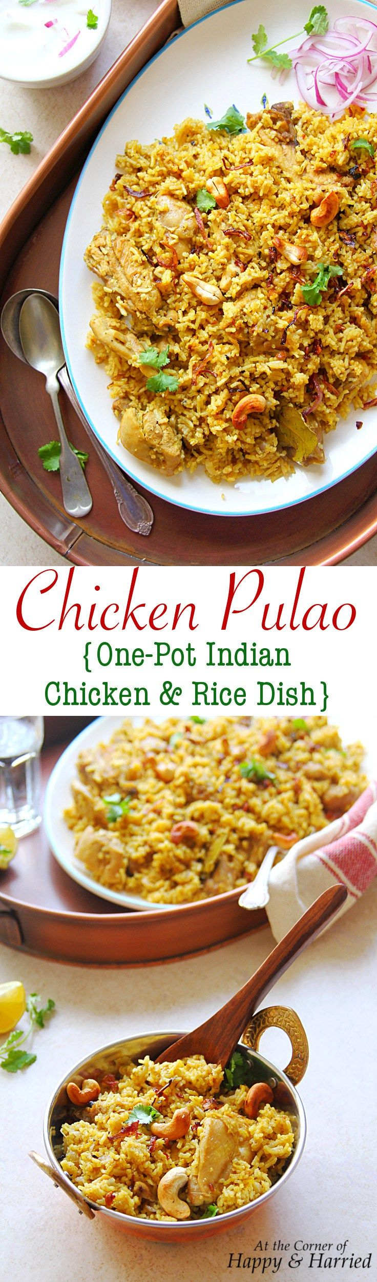 CHICKEN PULAO {ONE-POT INDIAN CHICKEN & RICE DISH} - HAPPY&HARRIED