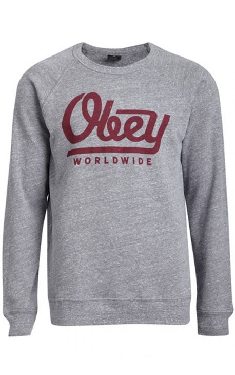 "Sweat Crewneck OBEY ""LE WORLDWIDE"" GRIS"