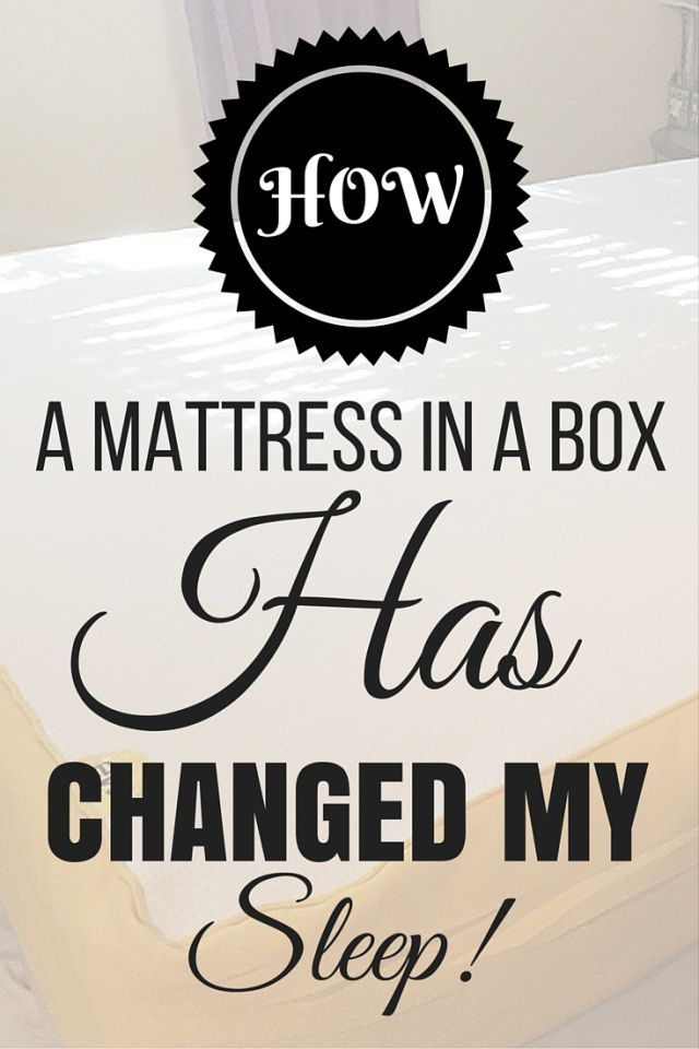 How a mattress in a box has changed my sleep #ad #EveryGreatDay #sleepwell  #livewell  #todaymatters-->> https://ooh.li/f95abfa