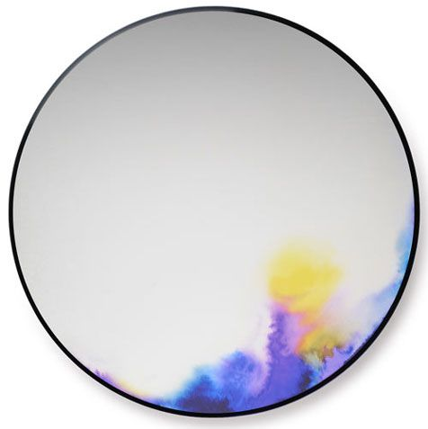 mirror spray paint and watercolor on smooth surface + fixer?