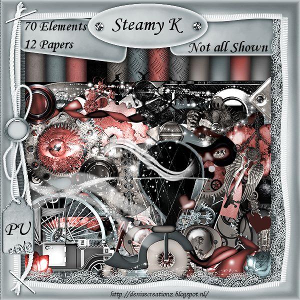 Scrapkit Steamy K [Denise Creationz] - $2.20 : , Exclusive Scrapping Divas