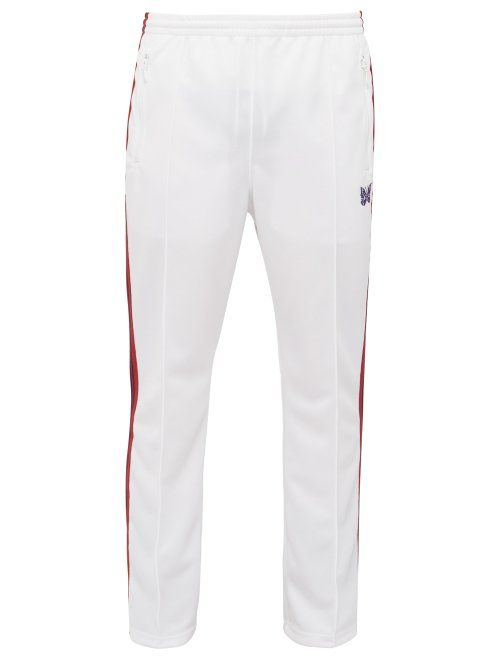 24ade794 NEEDLES NEEDLES - LOGO EMBROIDERED TECHNICAL JERSEY TRACK PANTS - MENS -  WHITE. #needles #cloth