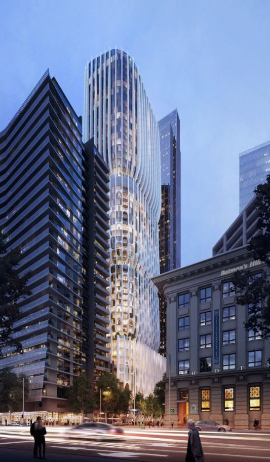 Mandarin Oriental Tower in Melbourne. Zaha Hadid Architects