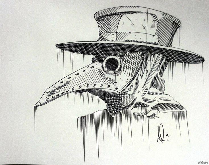 mask, plague, Art,