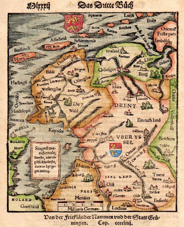 FRIESLAND , EDAM GRUNINGEN BRUGES    Michael Jennings Antique Maps and Prints