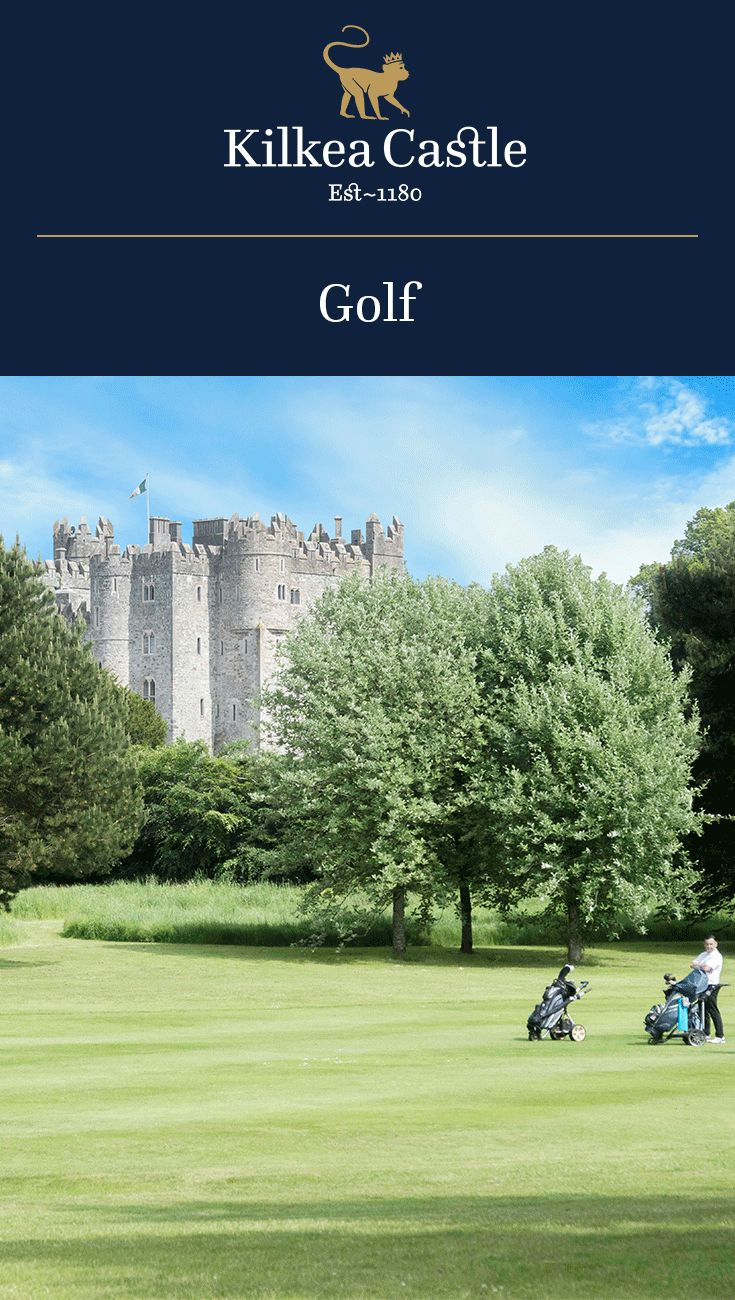 Kilkea Castle offers an 18-hole par 70 championship parkland golf course, measuring 6200 metres. The Course allows the splendor of the Castle to be viewed from every fairway. The course construction uses the River Greese as a natural hazard flowing through the Castle grounds and estate. You will encounter the river at almost every hole. Two lakes have also been included into the design, adding to the overall challenge.