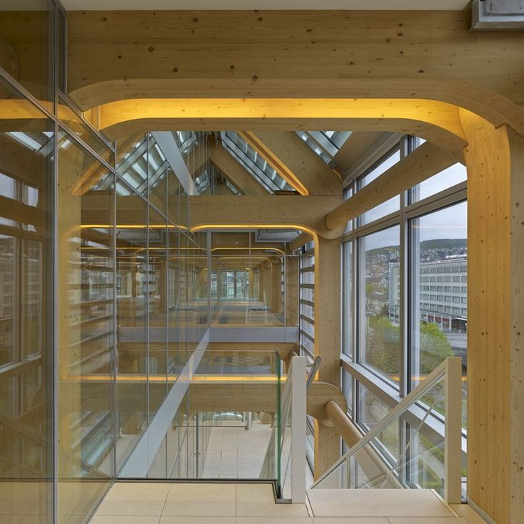 The Tamedia media group's office building at Stauffacher in Zurich was opened in 2013. Japanese architect Shigeru Ban has designed a unique building consisting of wood and glass that offers high-calibre workplaces for some 480 employees of 20...
