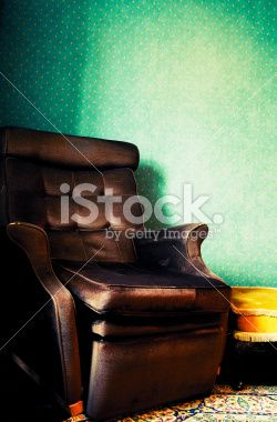 Old Retro Armchair in Vintage Home Interior Royalty Free Stock Photo