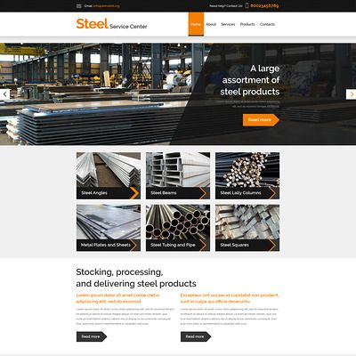 Steelworks Responsive Website Template #57819