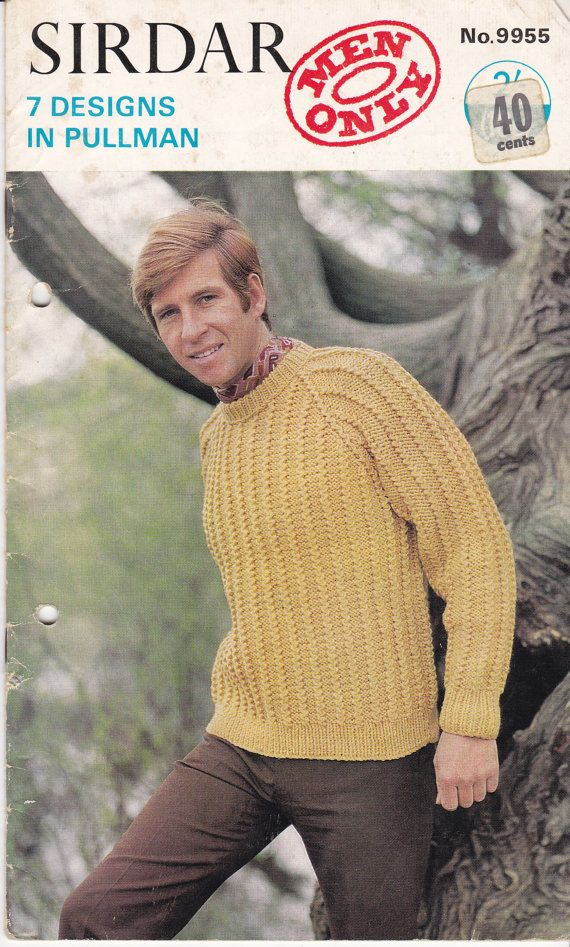 Sirdar Knitting Pattern No 9955  for Mens  by jennylouvintage