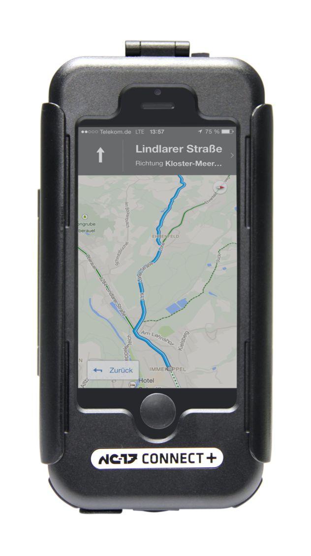 NC-17 Connect+  Case and Charger hold Perfettamente adatto a terreni accidentati!  Stai cercando un supporto da bici multifunzione per il tuo smartphone?  Puoi fidarti dei vent'anni di esperienza di NC-17 nell'ambito della modifica di biciclette. NC-17 sviluppa soluzioni uniche per risolvere il problema di montaggio degli smartphone e dei tablet sulle bici. Prima di essere commercializzati, i prodotti vengono sottoposti a test durissimi per assicurare all'utente la mig ...