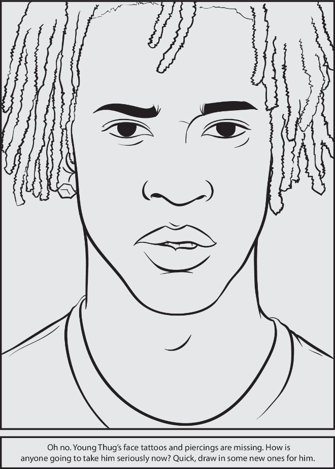 It's just a graphic of Exceptional Rapper Coloring Pages