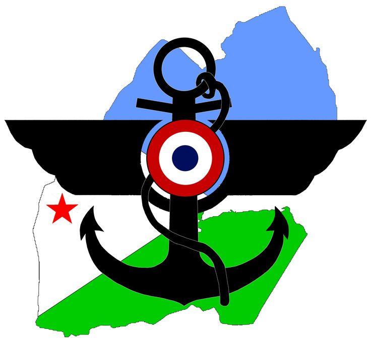 Logo magasin d'habillement.  Armées françaises.