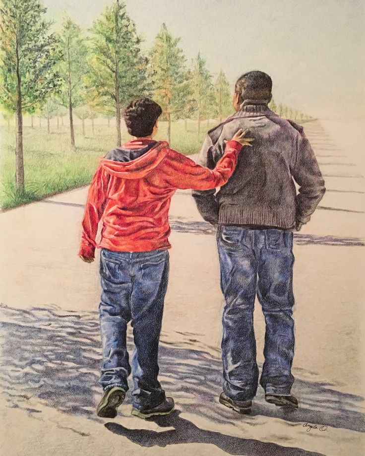Father & Son by AngelaO Art