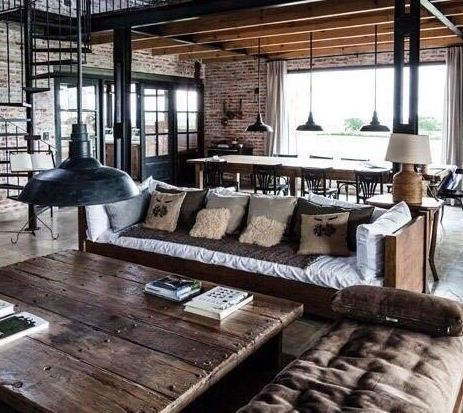 Industrial loft indeed 463 413 for Industrial rustic design furniture