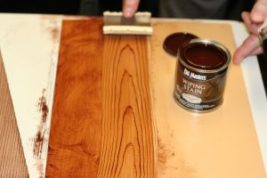 using a wood grainer