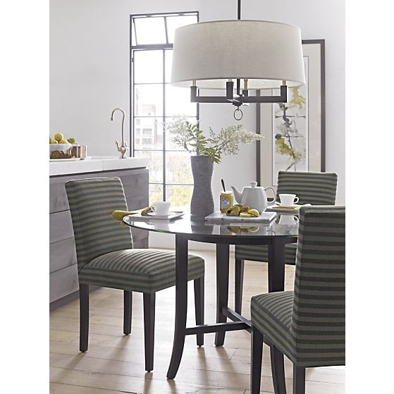 Dining table crate and barrel dining table glass for Crate and barrel dining room ideas