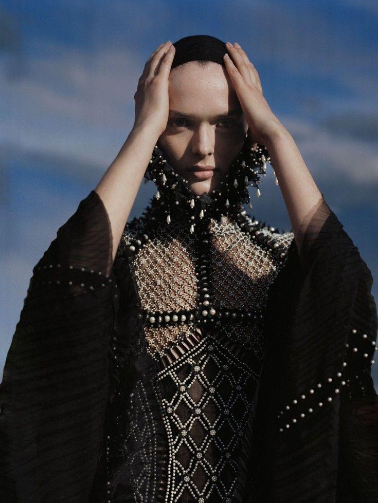 'Made In Britain' - photographed by Tim Walker for Vogue UK, December 2013. Dress: Alexander McQueen.