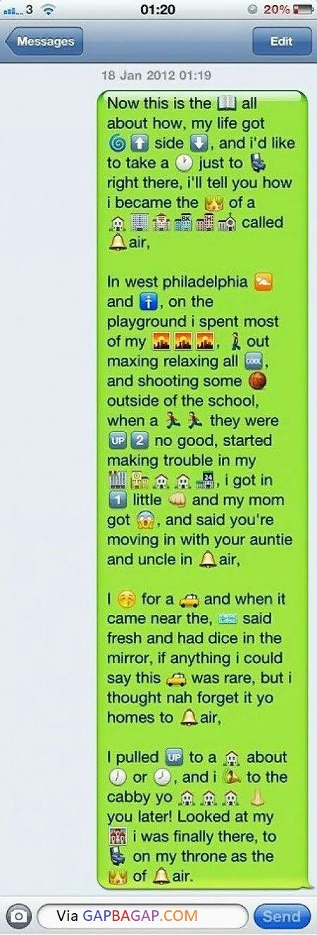 Hilarious Emoji Text Messages