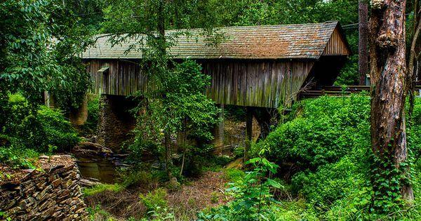 1872 Concord Covered Bridge - GA. | Covered Bridges | Pinterest | Pontes Cobertas, Pontes e Georgia