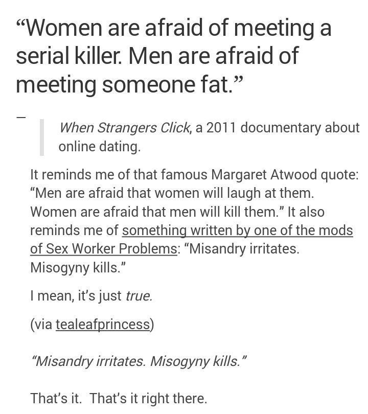 Online dating feminism