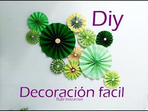 Diy decorar una pared facil youtube manualidades for Decorar paredes facil