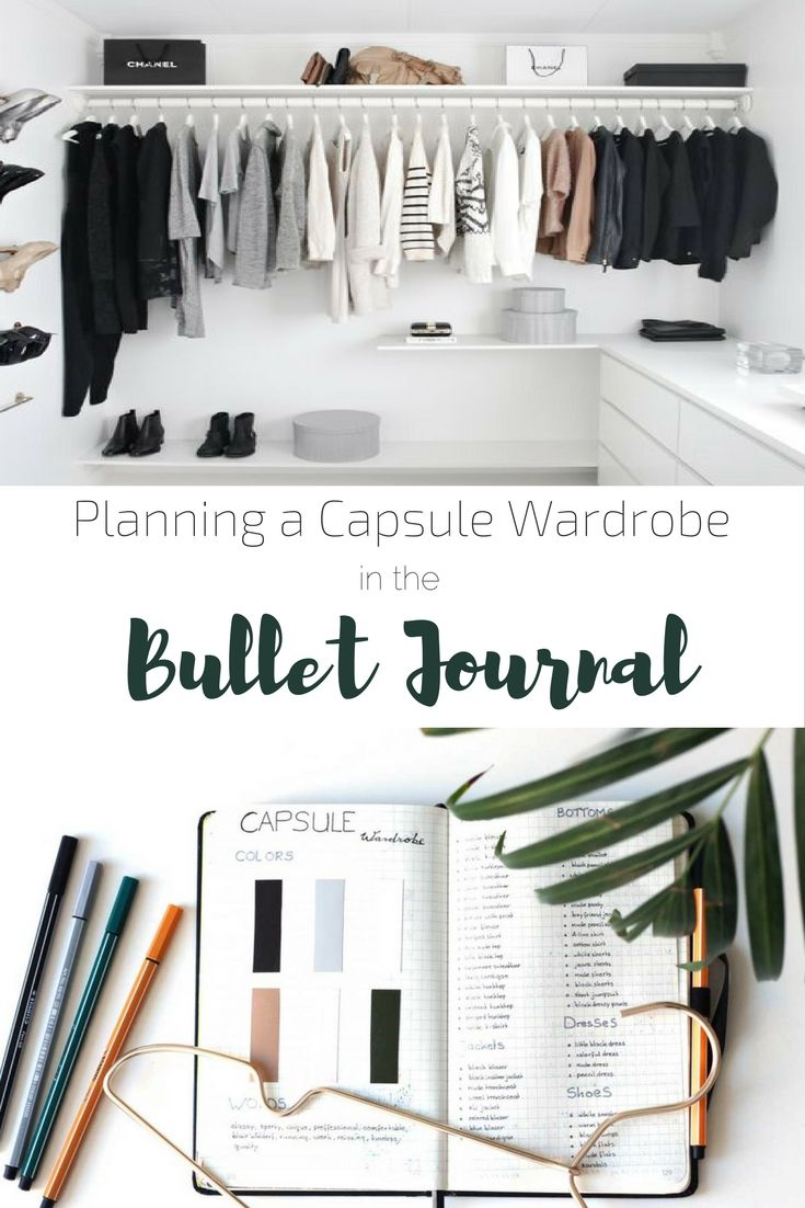 Complete description of how to create a capsule wardrobe using your Bullet Journal | Minimalism (Diy Clothes Organization)