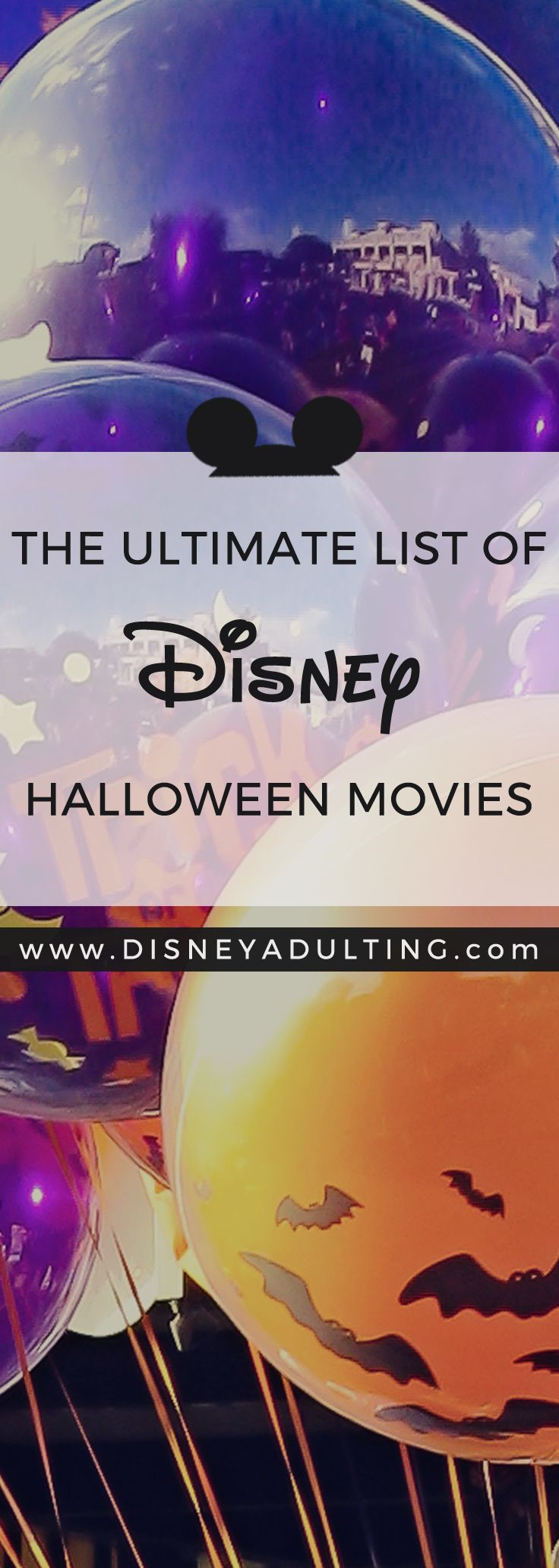 The ultimate list of Disney Halloween movies over the past several decades (29 movies in total) spanning from 1949 to 2017.