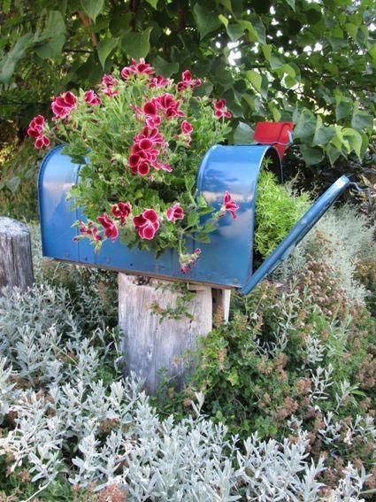 Garden Planter From A Mailbox